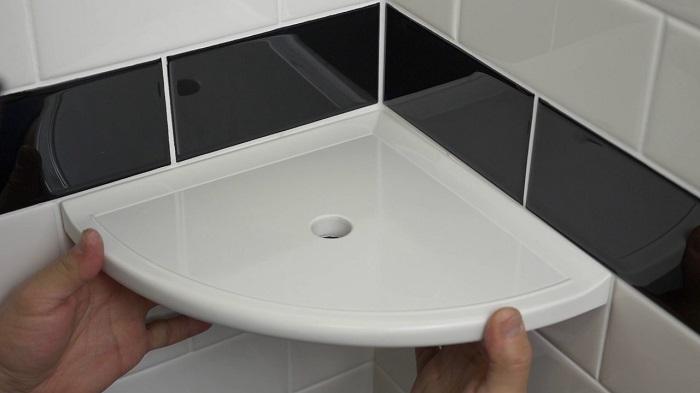 How to restore bathroom shelves