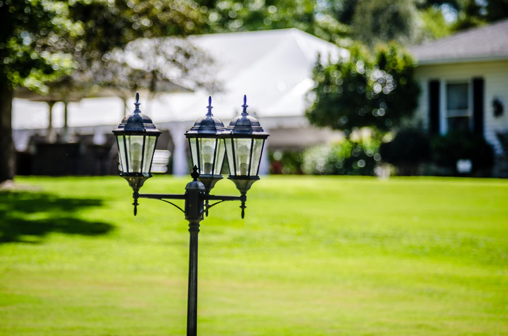 classic decorative garden lamp post