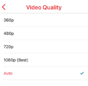 change video resolution android